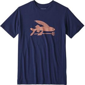 Patagonia Boys Flying Fish Organic T-Shirt Classic Navy